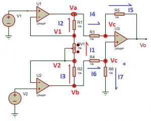 Análisis de un amplificador de instrumentación