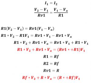 análisis ecuación amplificador de instrumentación