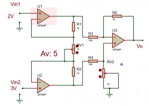 Amplificador de instrumentación