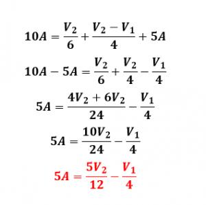 ecuación de nodo 2