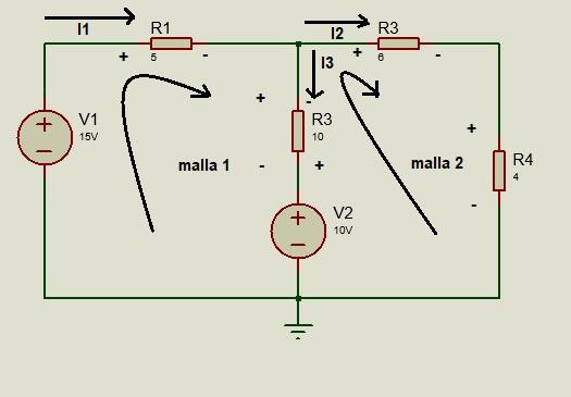 circuito con mallas