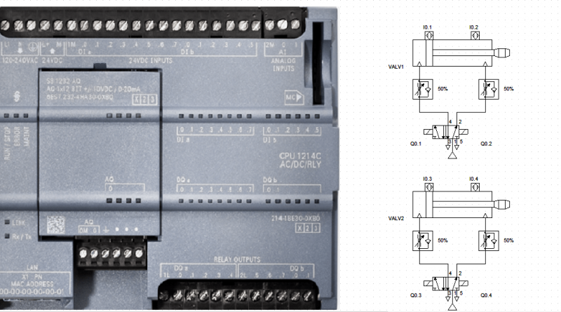 plc cilindros neumaticos