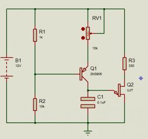 circuito generador de rampa con UJT