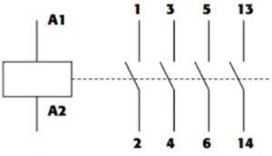 simbología de contactor