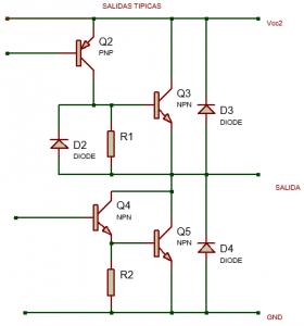 circuito tipico de salida