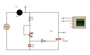 TRIAC con un solo condensador