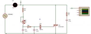 Figura 17. Circuito con DIAC y TRIAC