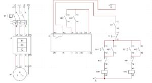 Circuito de avance y retroceso con variador de frecuencia