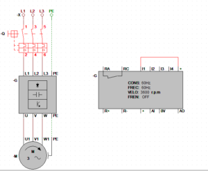 parámetros de velocidad entregados por el variador.